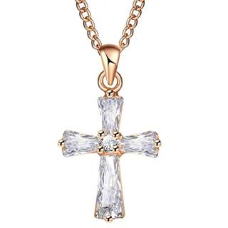 Náhrdelník Vow Cross-Zlatá