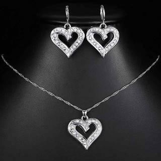 Set Silver Heart-Strieborná