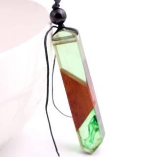 Náhrdelník Green Resin-Zelená