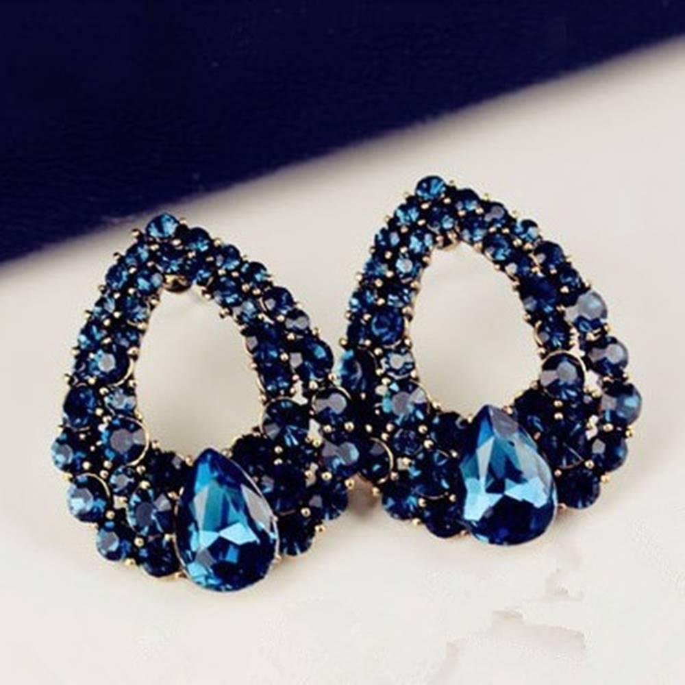 Izmael Náušnice Drop Royal  Blue-Modrá