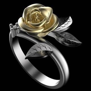 Prsteň Flower Rose-Strieborná/52mm