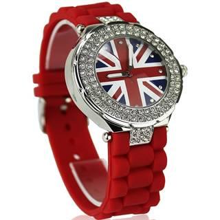 Hodinky Crystal Británia-Červená