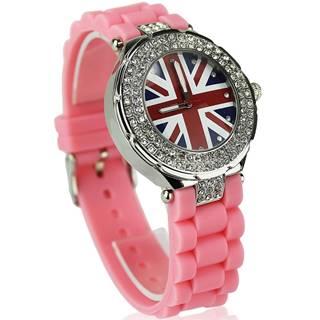 Hodinky Crystal Británia-Ružová