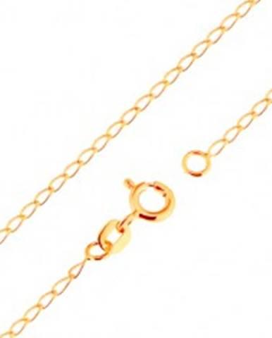 47f2f704b Retiazka zo žltého 18K zlata - lesklé ploché oválne očká, 500 mm GG171.02