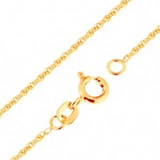 Retiazka v žltom zlate 375 - prepojené oválne očká, 500 mm