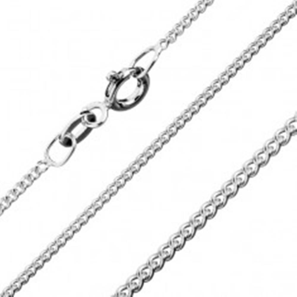 Šperky eshop Retiazka zo striebra 925, zatočené okrúhle očká, 1,4 mm