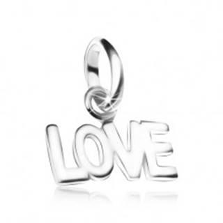 Prívesok LOVE, zo striebra 925