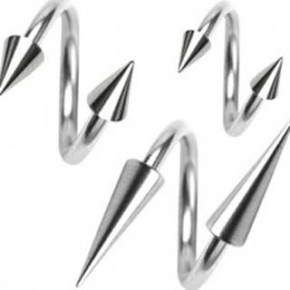 Piercing z chirurgickej ocele, špirálka s hrotom, 1,2 mm - Rozmer: 10 mm x 3x3 mm