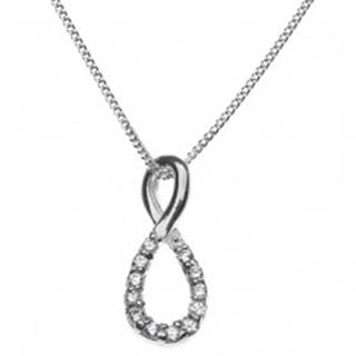 Strieborný náhrdelník 925 - osmička vykladaná zirkónmi