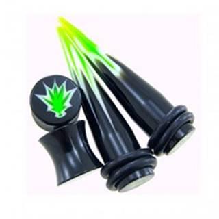 Taper a plug Marihuana - set 2ks plug + 2ks taper - Hrúbka: 10 mm