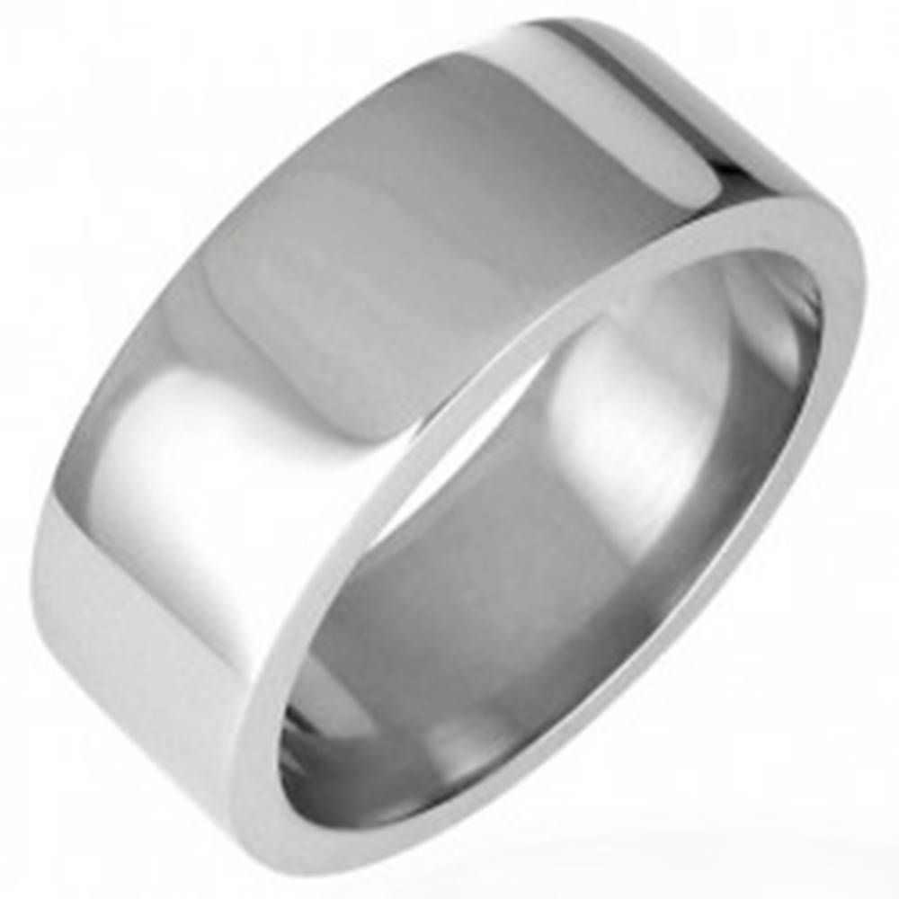 Oceľový prsteň lesklý, rovn...