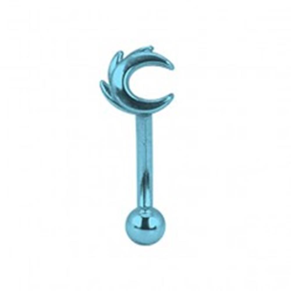 Šperky eshop Piercing do obočia titánový anodizovaný modrý mesiac