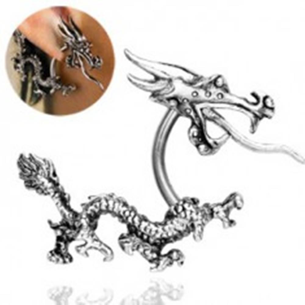 Šperky eshop Piercing do ucha - čínsky drak ohnivák