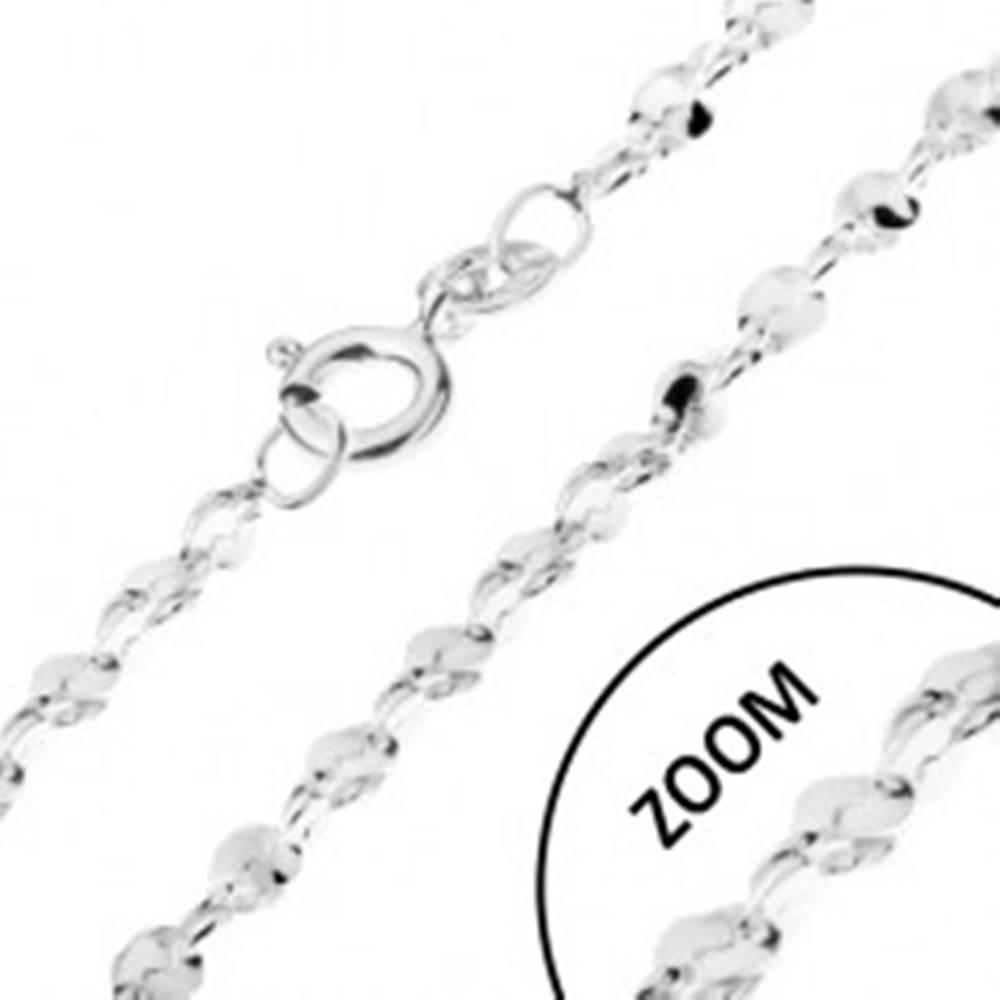 Šperky eshop Retiazka zo striebra 925 - vlnité články v špirále, 1,5 mm
