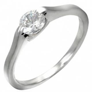 Klasický zásnubný prsteň - číre očko v úchyte - Veľkosť: 46 mm