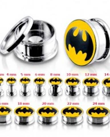 Oceľový tunel plug do ucha, Batman V12.08 - Hrúbka: 10 mm