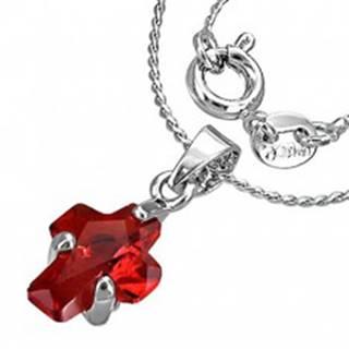 Jemný náhrdelník - červený krížik