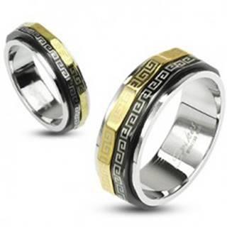 Prsteň s otáčavými prstencami - chirurgická oceľ - Veľkosť: 48 mm
