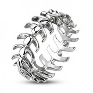 Prsteň z chirurgickej ocele s motívom stavcov - Veľkosť: 59 mm