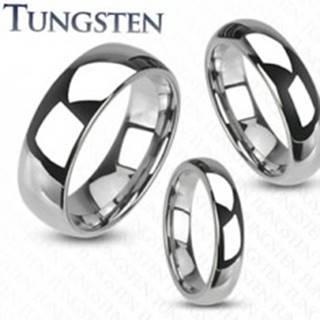 Tungstenový prsteň - hladká lesklá obrúčka striebornej farby, 8 mm - Veľkosť: 49 mm