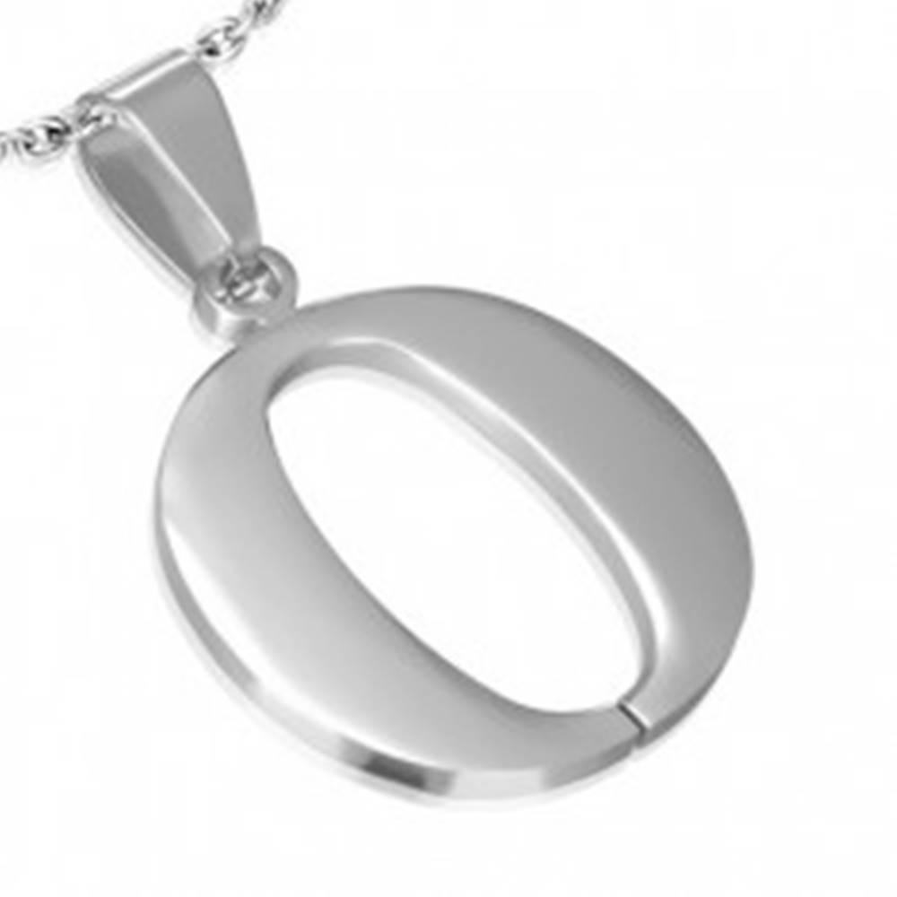"""Šperky eshop Prívesok z ocele - písmeno """"O"""""""