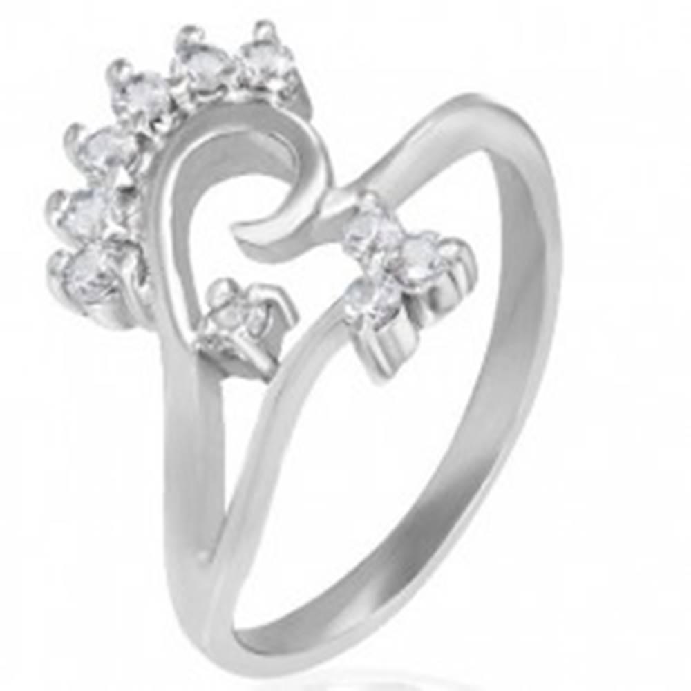 Šperky eshop Prsteň z chirurgickej ocele - kvetinový motív - Veľkosť: 52 mm