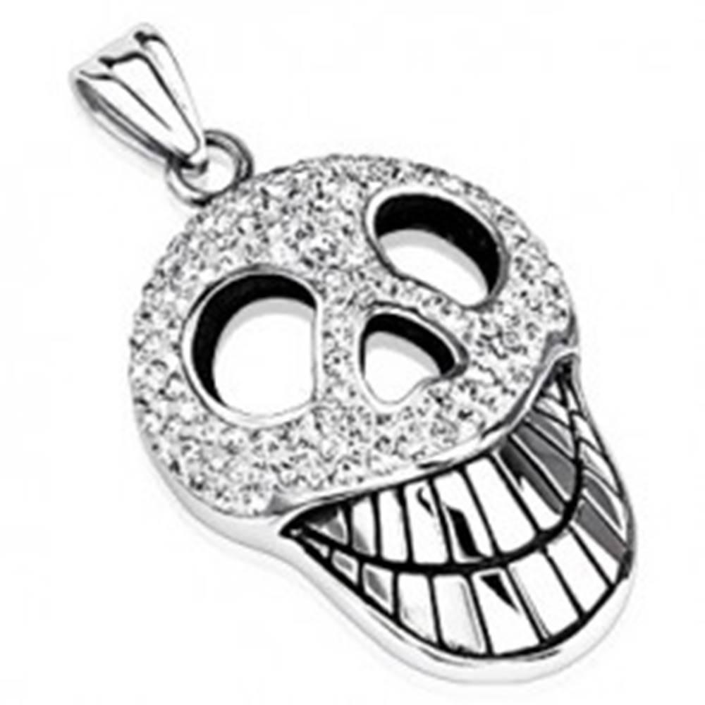 Šperky eshop Žiarivý prívesok - mohutná zubatá lebka