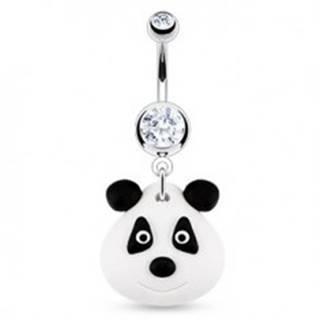 Piercing do pupka - FIMO panda