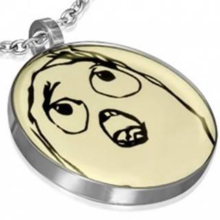 Prívesok z ocele - TIMOROUS MEME FACE