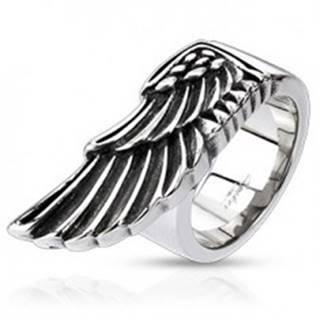 Prsteň z ocele - veľké krídlo orla - Veľkosť: 59 mm