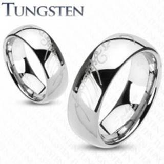 Tungstenová obrúčka striebornej farby, motív Pána prsteňov, 6 mm - Veľkosť: 49 mm