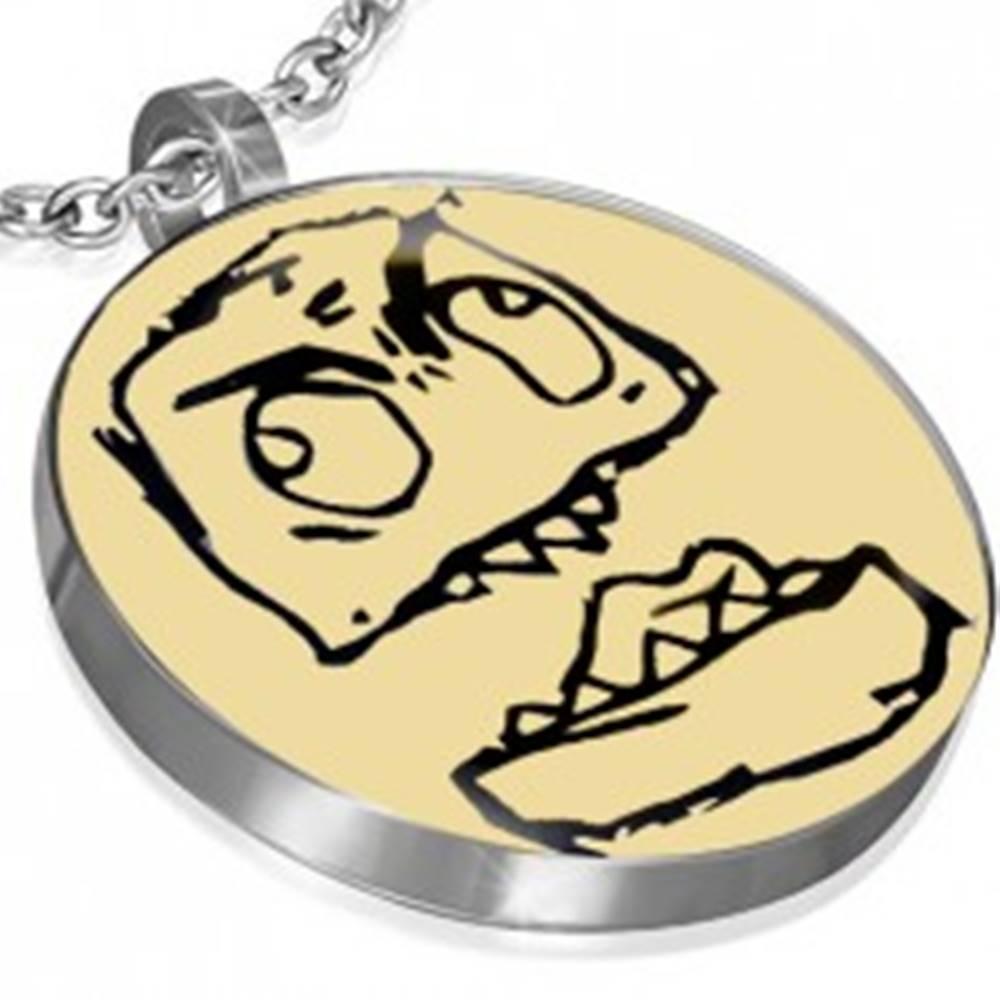 Šperky eshop Prívesok MEME z ocele - CANADIAN RAGE GUY, okrúhly