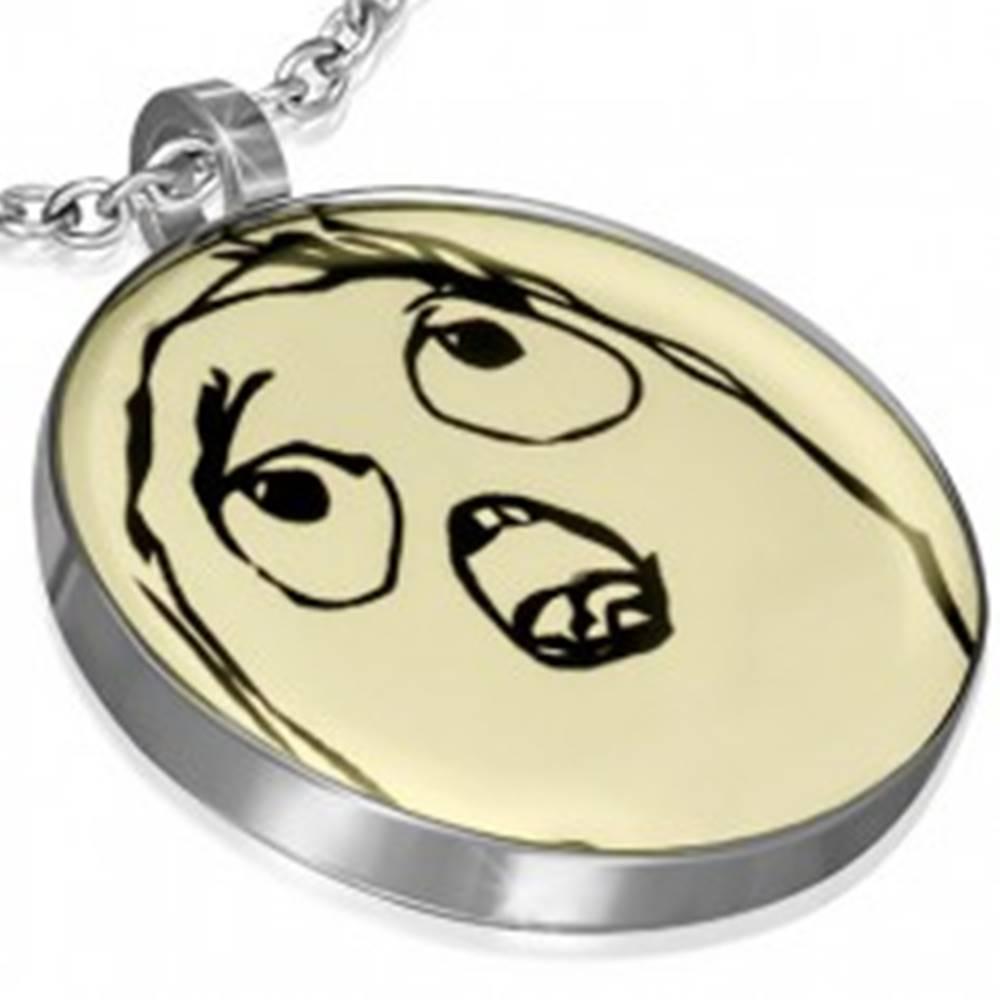 Šperky eshop Prívesok z ocele - TIMOROUS MEME FACE