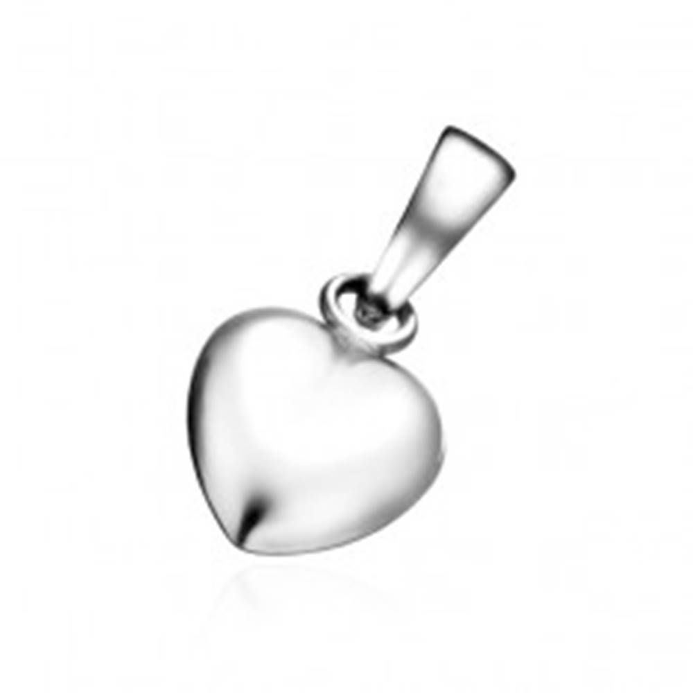 Šperky eshop Prívesok zo striebra 925 - podlhovasté plné srdiečko