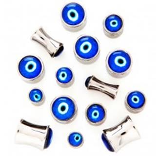 Sedlový plug z chirurgickej ocele - Diablovo oko - Hrúbka piercingu: 4 mm
