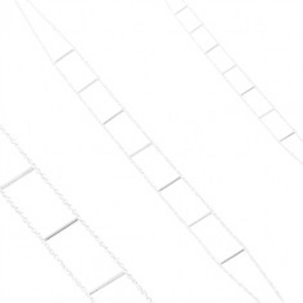 Šperky eshop Náhrdelník zo striebra 925, dve retiazky spojené rovnými paličkami