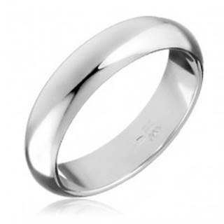 Strieborný prsteň 925 - hladká, mierne vypuklá obrúčka - Veľkosť: 49 mm