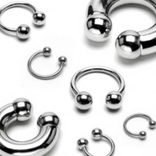 Piercing z chirurgickej ocele - podkova s lesklým povrchom a guličkami, hrúbka 2 mm - Hrúbka x priemer x veľkosť guličky: 2 mm x 10 mm x 4 mm