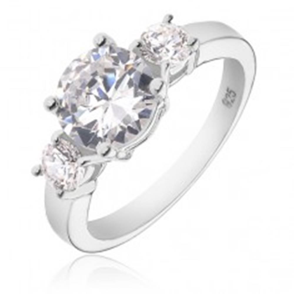 Strieborný prsteň 925 - väč...