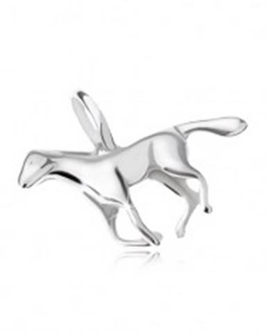 Prívesok - cválajúci kôň, striebro 925 SP22.14
