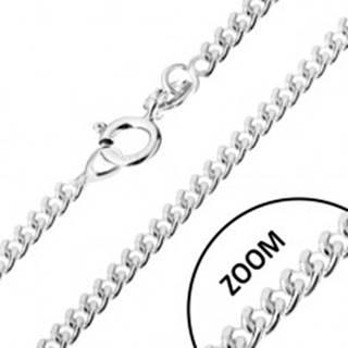 Strieborná 925 retiazka, zatočené okrúhle očká, šírka 1,4 mm, dĺžka 460 mm