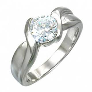 Zásnubný prsteň prepletaný s očkom zo zirkónu - Veľkosť: 49 mm