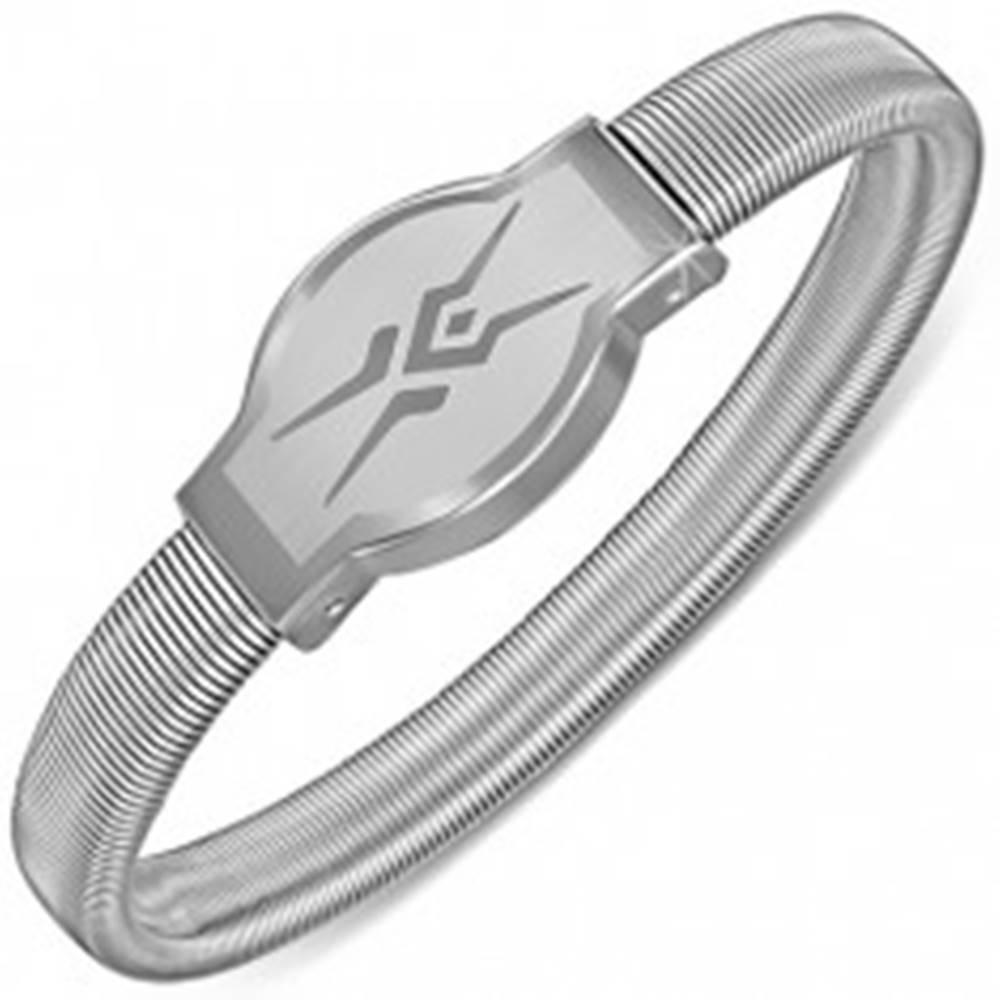 Šperky eshop Náramok z ocele - hodinkový štýl, hadí motív, rozťahovací