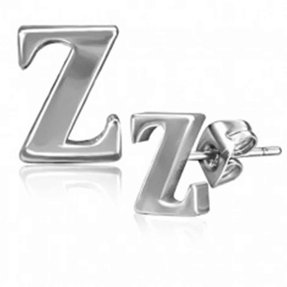 Šperky eshop Oceľové náušnice - písmenko Z, puzetky