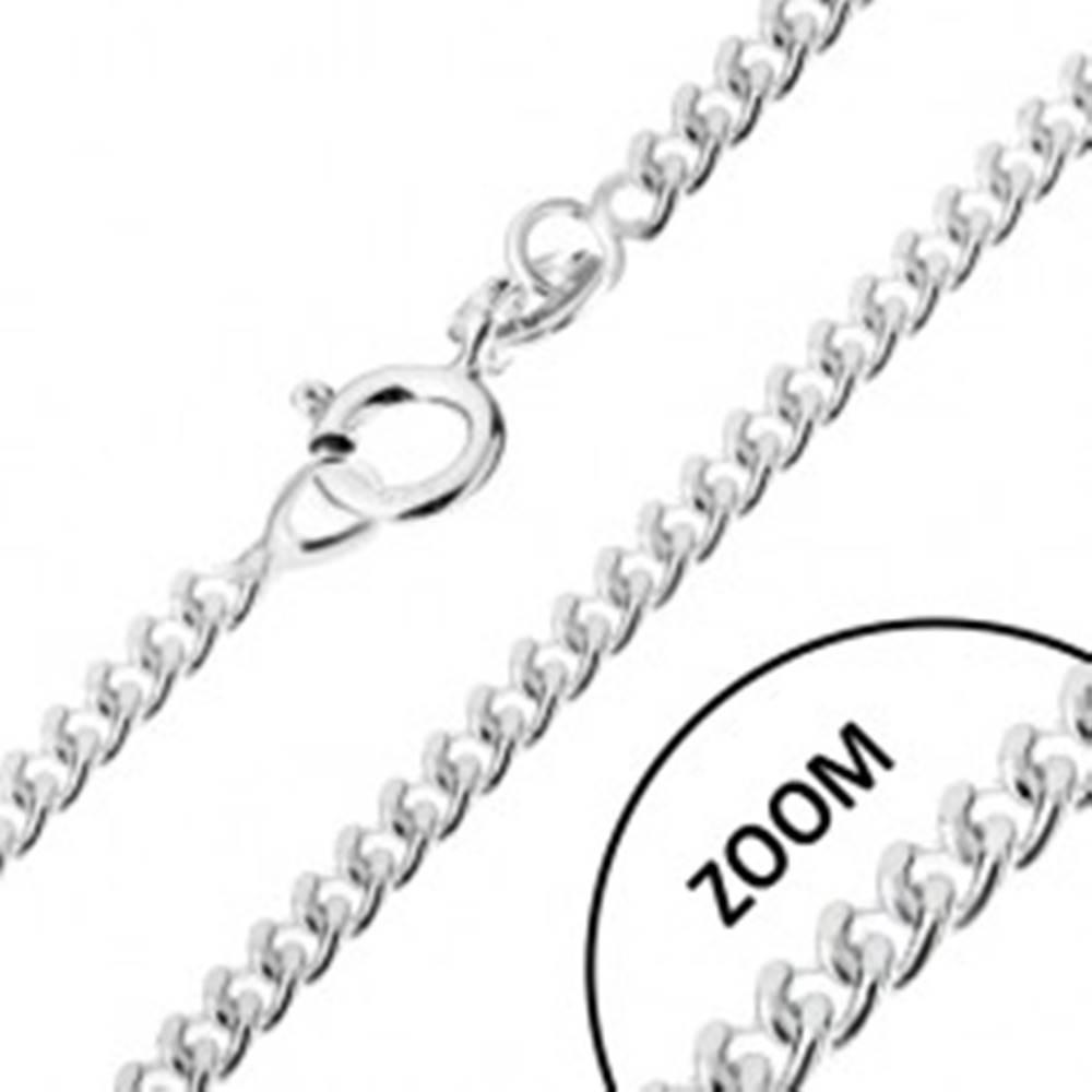 Šperky eshop Retiazka zo zatočených oválnych očiek, striebro 925, šírka 1,7 mm, dĺžka 450 mm