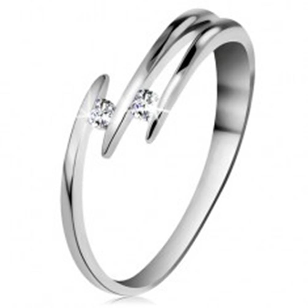 Briliantový prsteň z bieleh...