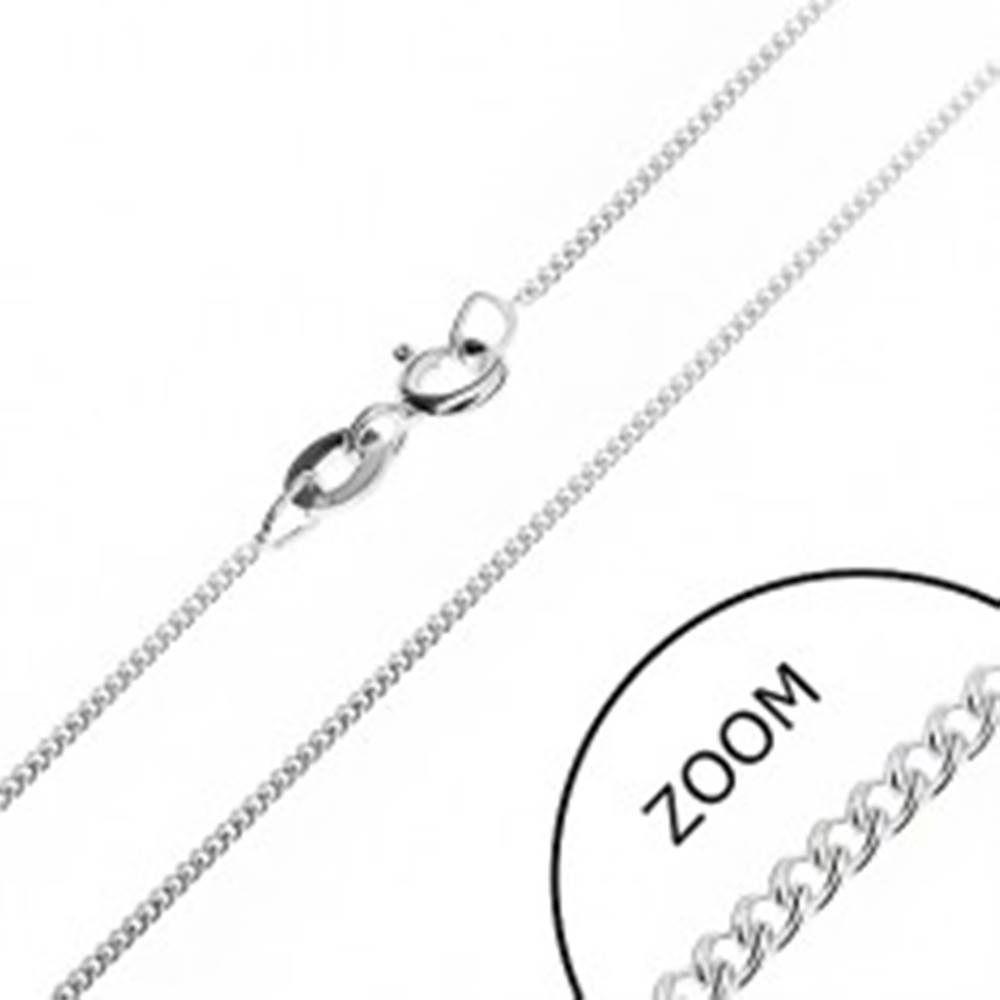 Šperky eshop Jemná retiazka zo striebra 925 - husté očká, 1,2 mm