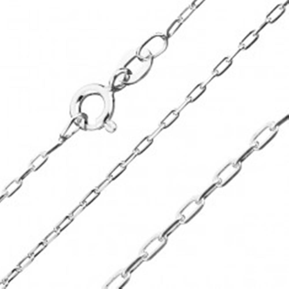 Šperky eshop Retiazka zo striebra 925 - hladké obdĺžniky, 1,4 mm