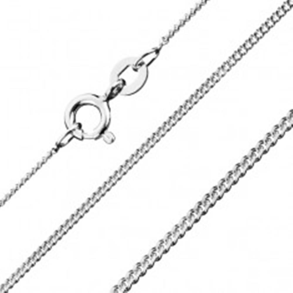 Šperky eshop Retiazka zo striebra 925 - husté očká, 1,2 mm