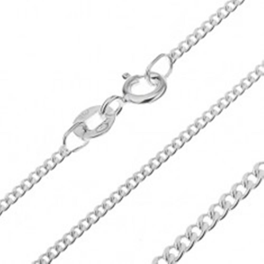 Šperky eshop Retiazka zo striebra 925 - husté očká, 1,6 mm